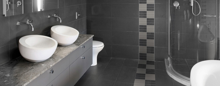 Grey Speckled Bathroom With Feature 171 Concept Tiles