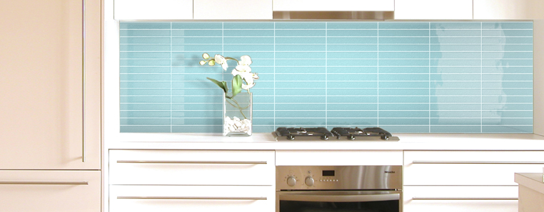 Light Blue Kitchen Splash Back Concept Tiles