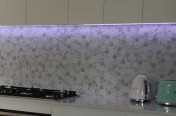 Signature Carrara Hexagon Kitchen Splashback