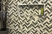 Signature Herringbone Dark Brown Feature Wall